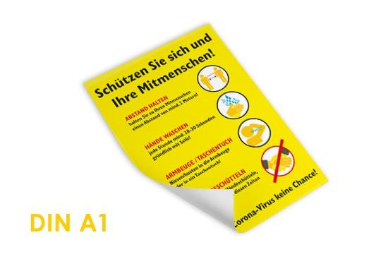 Plakat übersicht stopcorona corona Hygiene Sicherheit bestellen drucken fertig bestellbar Hygiene-Maßnahmen