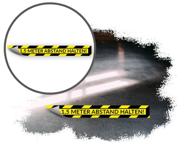 Bodenaufkleber Sicherheitsabstand Streifen 80x10cm