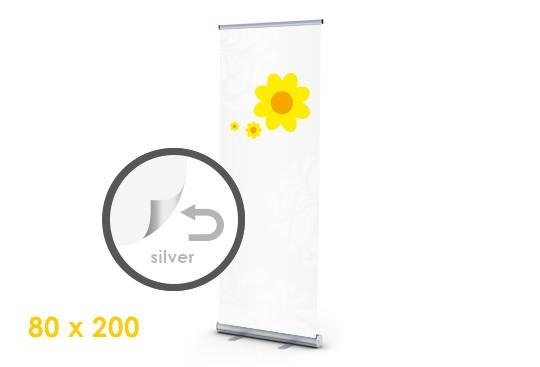 silberne Rückseite rollup display bestellen