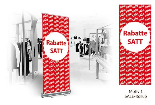 Sale Rollup Display Digitaldruck