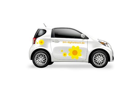 Autoaufkleber KFZ Beschriftung Folientexte Auto drucken bestellen