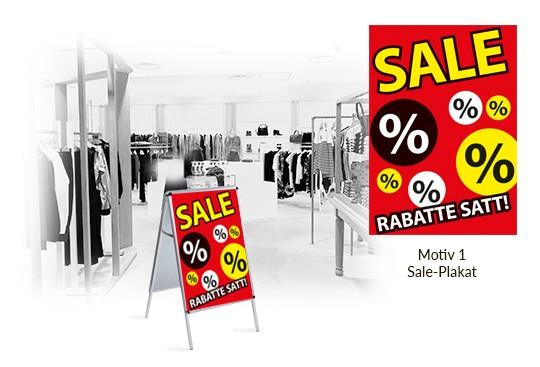 SALE Poster für Kundenstopper im Digitaldruck