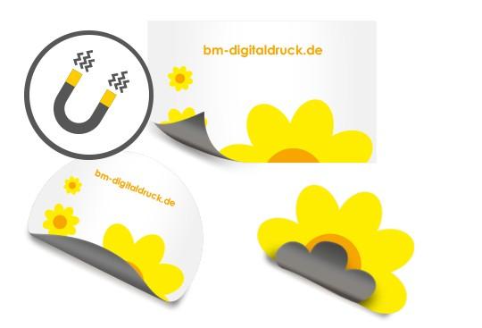 magnetsticker magnetfolie aufkleber magnetisch digitaldruck bestellen Nürnberg