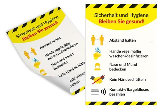 Plakat sicherheit hygiene hinweise Nürnberg corona