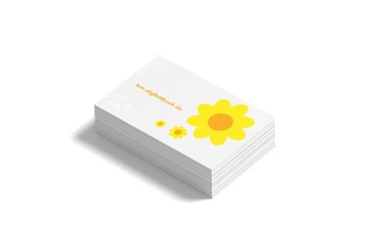 Visitenkarten schnell drucken Erlangen Offsetpapier