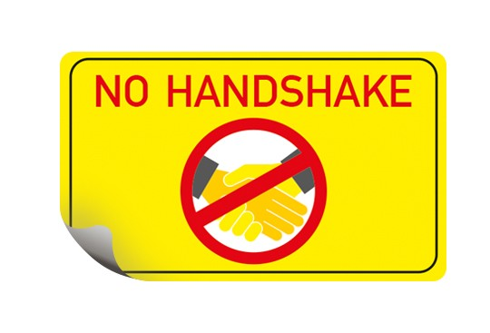 No Handshake aufkleber NOHANDSHAKE bestellen Hygiene Corona stopcorona