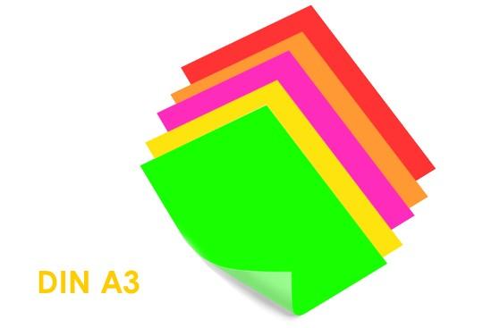 auffallendes Poster drucken neonfarben