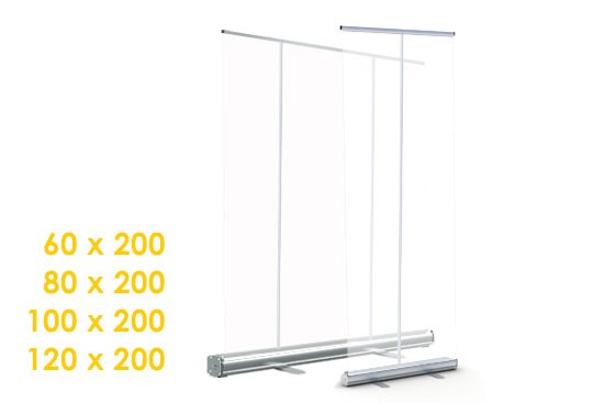 Spuck Schutz Transparentes Rollup