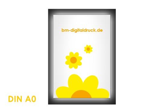 leuchtendes Plakat im Latexdruck drucken