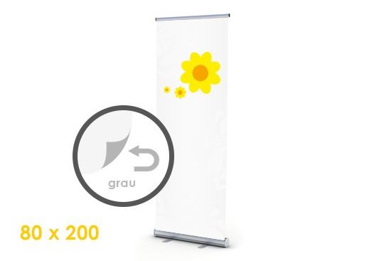 einrollende Kassette Rollup-Display digitaldruck auf grayback bestellen