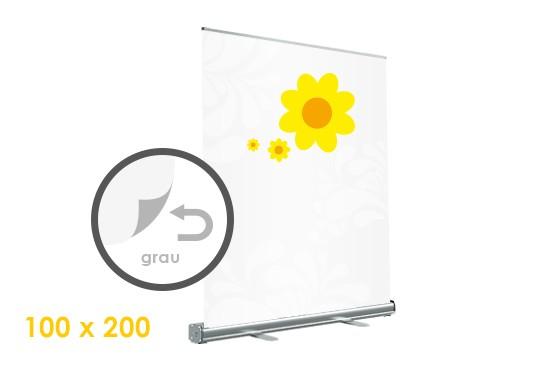 rückseitig graues Material gedruckt Rollup-Display bestellen